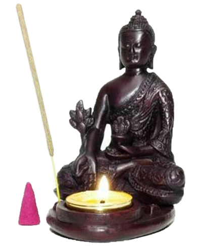 Buddha resin incense stick/cone/candle burner